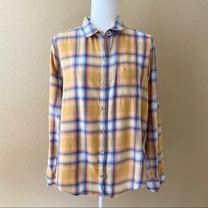 Abercrombie & Fitch Orange Button Down Flannel